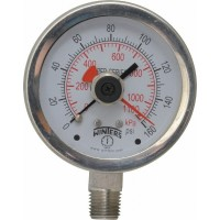 Winters - 2-1/2 Inch Dial, 1/4 Inch, 0 to 160 Scale Range Pressure Gauge PFP82525MAXI