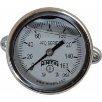Winters - 2 Inch Dial, 1/8 Inch, 0 to 160 Scale Range Pressure Gauge PFQ2991